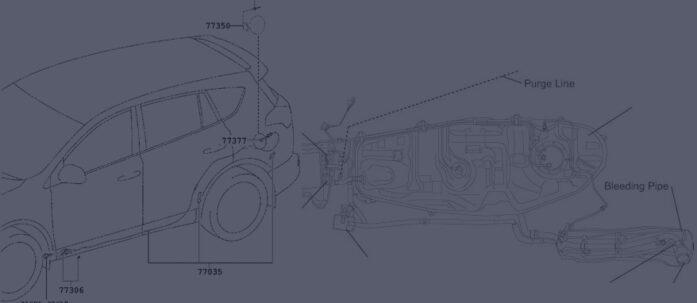 Drivstoffpåfyllingsrør og tank Toyota Rav 4